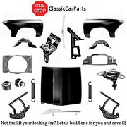 1966 Chevelle Rad Support W/shroud Fenders W/inners Std Hood Hinges Latch Catch+