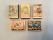 Vintage Sweden Match Boxes Wood Matches Lot Of 5