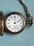 Antique Gold Waltham Pocket Watch - Working - C 1900 Free Shipping