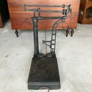 Antique Cast Iron American Cutlery Co. Scoop Balance Scale - Chicago