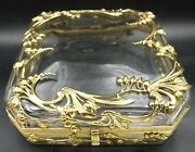 Amazing Art Nouveau French Baccarat Crystal And Ormolu Dore Bronze Jewelry Box