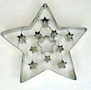 William Sonoma Giant Large Christmas Cutout Star Tin Metal Cookie Cutter 7.5