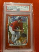 Rafael Devers 2014 Bowman 32/150 Red Ice Rc Psa 10 Rookie Pop 9 Red Sox On Fire