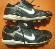 Kelly Johnson Autograhed Game Used Nike Cleats C.o.a Sz.13 Braves/yanks/mets