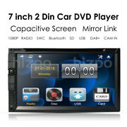 Double 2din In Dash Sony Cd Lens 7 Car Stereo Radio Dvd Player Aux Bluetooth Tv