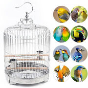 Stainless Steel Bird Cage Parrot Travel Carrier Cage Bird Supplies Height 40cm