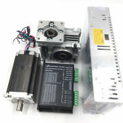 Stepper Motor Drive Kit Nema23 1.8nm 3a Worm Gear Reducer Anddriver Mb450a +power