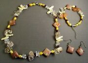 Suzanne Somers Multi-colored Crystal And Stone Necklace, Bracelet And Earrings