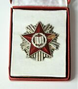 Albania Medal Medal Of Military Service Slightly Damaged With Box R4 300 Pc.