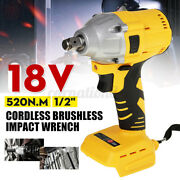 520nm 18v 1/2 Cordless Brushless Impact Wrench Adapted To 18v Makita Battery Us