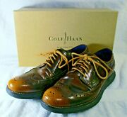 New With Box Men's Cole Haan Lunargrand Longwing Blucher Wingtip Shoes 9m