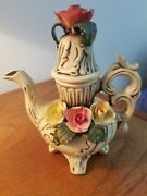 Ar.ce.mi Made In Spain Porcelain Teapotcapidemonte Stylemint Condition