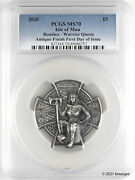 2020 Andpound5 Isle Of Man Boudica 3 Oz Antique Silver Coin Pcgs Ms70 First Day Issue