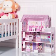Toys And Games 28 Pink Dollhouse W/ Furniture Dolls, Playsets And Toy Figures New