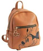 Disney Mickey Mouse Zippered Brown Backpack Bag With 11and039and039/28cm New Sealed