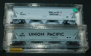 2- Micro-trains N-scale Union Pacific Centerflow Hoppes-car 90802 And 78892