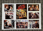 Rod Taylor And Alan Young Signed The Time Machine Glossy Poster With Photo Coa