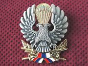 Serbia And Montenegro Army - 63rd Parachute Brigade Beret Badge Without Number