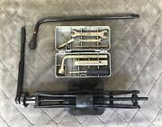 Fiat Trunk Jack With Ratchet Handle + Complete Hard Shell Tool Kit + Lug Wrench
