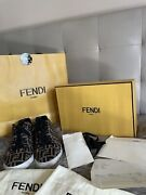New Fendi Roma Men's Zucca Ff Tech Fabric Lace-up Low Top Sneakers Shoes 41