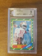 1986 Topps Jerry Rice Rookie Card San Francisco 49ers 161 Football Card