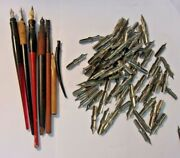 At Least 80 No 8 Fountain Pen Nibs Marjax And 5 Pens 1 Esterbrook