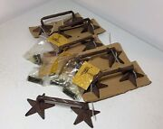 New Set 6 Home De Leon 21278 Cast Iron Texas Star Barbed Wire Drawer Pulls
