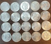 20 Morgan Silver Dollar Roll Never Been Graded Mixed Date/mint Incredible Coins