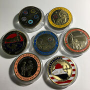 Iraq Challenge Coin Lot Of 7-operation New Dawn-freedom St George Sp57