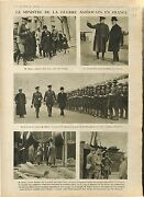 Us Minister Of War Baker General Pershing And Walsh /nieuport Nieuwpoort 1918 Wwi