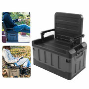 Collapsible Car Storage Box Chair 2 In 1 Foldable Trunk Container Matt Black