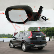 9-pins Black Left And Driving Side Rear View Mirror For Honda Crv 2012-2016
