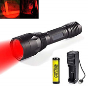 Red Light Torch, Rechargeable Red Tactical Flashlight Torches 650 Lumen By 3x