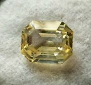 Unheated Loose 5.45 Ct Natural Yellow Sapphire 10x8 Mm Excellent Luster Octagon