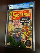 Tales Of Suspense 48 1963 Cgc 7.5 1st Appearance Mr Doll And New Red/gold Armor