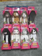 Fuzzy Friends Cat And Dog Series Pez Dispensers Set Of 8