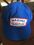 Vtg Maxima The Best By Test Patch Snapback Fishing Lines Hat Cap Farmer Trucker