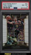 2018 Select Concourse White Prizm Trae Young Rookie Rc /149 45 Psa 8 Nm-mt