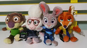 4 Disney Zootopia Character Toys With Tags Nick Wilde Judy Hopps Sheep Otter