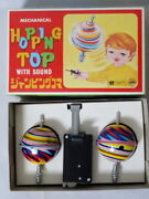 1970s Hopping Top With Sound Fancy Aoki Toy Jumping Spinning Vintage Tin Toy