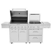 304 Stainless Steel Outdoor 8 Burner Grill W Grill Cover   Model 720-0990c   New