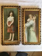 Pair Of Vintage Ornate Gold Gesso Picture Frames