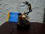 Julie Bell - Franklin Mint - Passions Of The Future Crystal Ball Sculpture