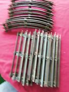Lionel O Scale,8 Curved Track, 10 Straight Tubular 3 Rail Steel Sections