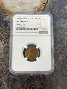 1955 Double Die Obv Lincoln Cent Ngc Au Details Whizzed