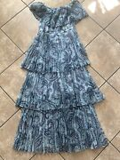 Nwot Opt O.p.t. S Maxi Tiered Pleated Dress Paisley