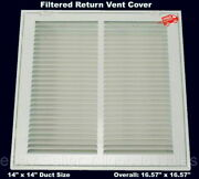 Return Vent Cover 20 X 14 Duct Size Filtered Air Grille Wall Ceiling White New
