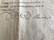 1799 Iredell County North Carolina Land Grant Signed By Governor William Davie