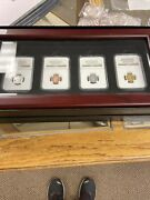 2011 Smithsonian Restrike Confederate Cent 4 Coin Set