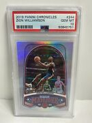 2019-20 Zion Williamson Panini Marquee Chronicles Rookie 244 Psa 10 Gem Mint